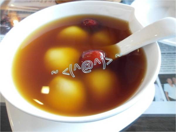 Rice Balls in Ginger Soup (汤圆姜汤,$3.00)